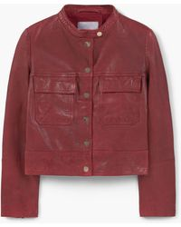 Mango | Pocket Leather Jacket | Lyst