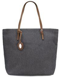 Furla Denim Shoulder Bag - Lyst