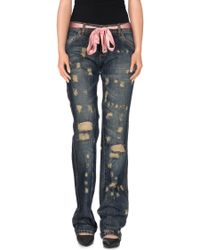 Trust Toilette - Denim Pants - Lyst