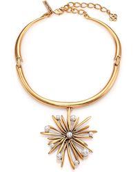 Oscar de la Renta Starburst Faux Pearl Pendant Collar Necklace - Lyst