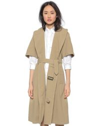 NLST - Short Sleeve Trench Coat - Khaki - Lyst