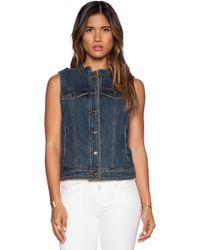 Free People Ripped Lace Up Vest - Lyst
