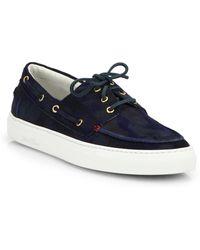 Del Toro Suede Boat Shoe Sneakers - Lyst