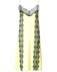 Christopher Kane Lace-panel Floral-print Dress - Lyst