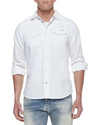 Diesel Sonora Denim Western Long-sleeve Shirt - Lyst