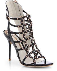 Sophia Webster Brandy Leather Cage Sandals - Lyst
