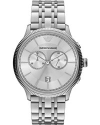 Emporio Armani Stainless Steel Chronograph Watch - Lyst