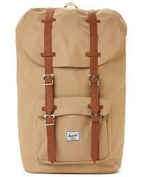 The Idle Man - Herschel Little America Backpack - Khaki - Lyst