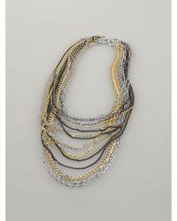 Lauren by Ralph Lauren Multicolor Multi-chain Necklace - Lyst