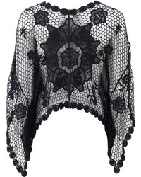 Muche Et Muchette - Crochet Knit Poncho - Lyst