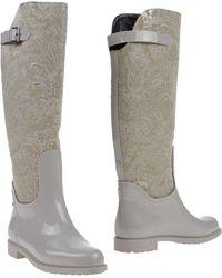 Rene Caovilla Boots gray - Lyst