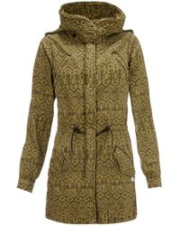 Maison Scotch Slub Cotton Parka - Lyst