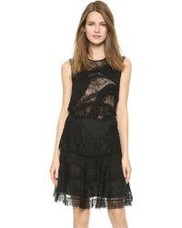 Nina Ricci Sleeveless Lace Top - Black - Lyst