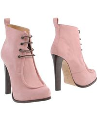 DSquared2 Pink Ankle Boots - Lyst