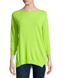 Halston Heritage Twist-seam Knit Sweater - Lyst