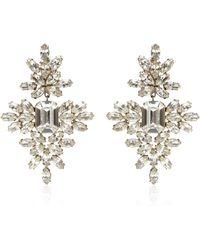 Carole Tanenbaum - Vintage Kenneth Jay Lane Rhinestone Snowflake Earrings - Lyst