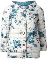 Herno Quilted Floral-Print Jacket - Lyst
