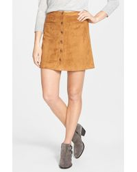 Two By Vince Camuto | Faux Suede A-Line Miniskirt | Lyst