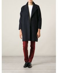 Mm6 By Maison Martin Margiela Oversized Tapered Coat - Lyst
