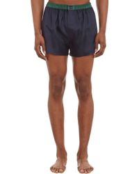 Barneys New York Silk Twill Boxers - Lyst