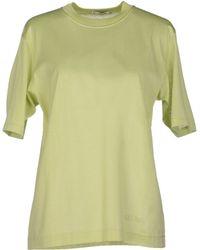 Celine T-Shirt green - Lyst