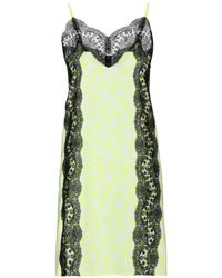 Christopher Kane Printed Dress With Lace - Lyst