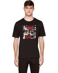 Blk Dnm Black Peace Rose T_shirt - Lyst