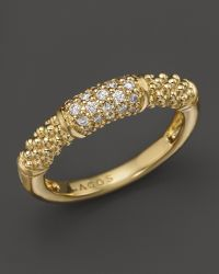 Lagos 18K Gold And Diamond Ring gold - Lyst