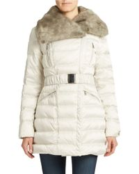 Laundry By Shelli Segal Belted Down Coat - Lyst