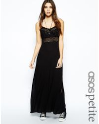 Asos Exclusive Crochet Inserts Cheesecloth Maxi Dress - Lyst