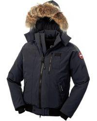 Canada Goose' Men's Borden Fur-Trimmed Puffer Jacket - Black - Size