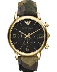 Emporio Armani Camo Strap Chronograph Watch - Lyst