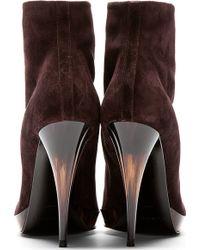 Burberry Prorsum - Purple Suede Grace Ann Ankle Boots - Lyst