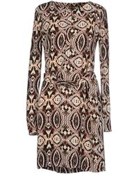 Antik Batik Beige Short Dress - Lyst