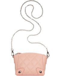Perlina - Francesca Leather Quilted Mini Crossbody - Lyst