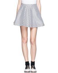 Opening Ceremony Esther Floral Jacquard Flared Skirt - Lyst