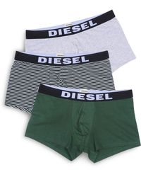 DIESEL - Shawn Stretch Cotton Boxer Shorts, Pack Of 3 - Lyst