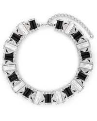 Kenneth Jay Lane Rhinestone Crystal Pavé Art Deco Necklace - Lyst