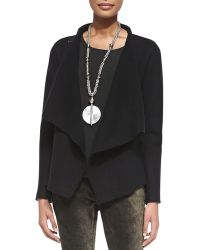Eileen Fisher Bias-Twisted Wool Drape Jacket - Lyst
