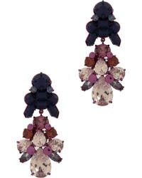 EK Thongprasert | 2 Tier Drop Multi Jewel Earng | Lyst