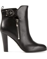 Sergio Rossi Buckled Ankle Boots - Lyst