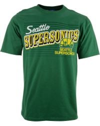 Adidas  Short Sleeve Seattle Supersonics T-Shirt - Lyst