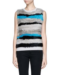 Opening Ceremony Ribbit Fur Wool Tank Top - Lyst