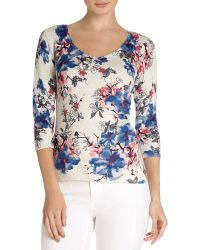 Phase Eight - Hydrangea Print Top - Lyst