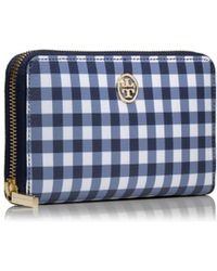 Tory Burch Robinson Printed Zip Continental Wallet - Lyst