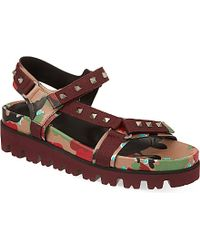Valentino Show Psycho Studded Sandals - For Men - Lyst