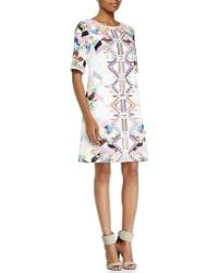 Ranna Gill - Half-sleeve Geometric Shift Dress - Lyst
