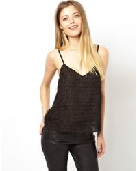 Asos Cami in Shaggy Metallic - Lyst