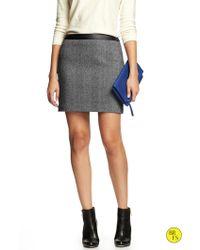 Banana Republic Factory Herringbone Mini Skirt - Lyst
