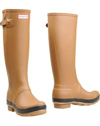 Hunter Boots beige - Lyst